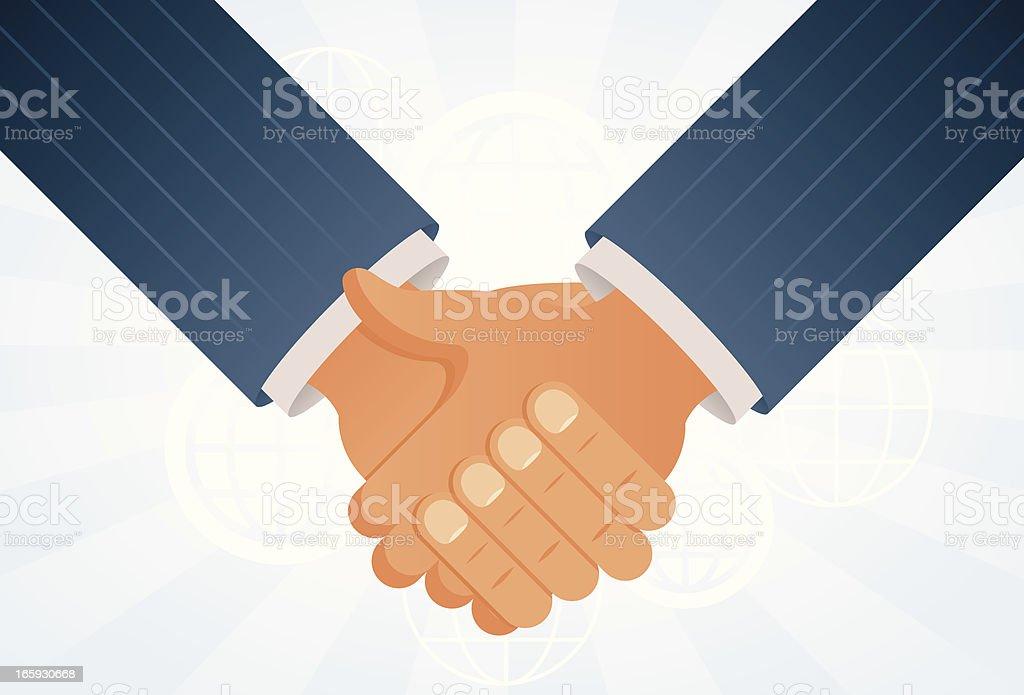 International handshake vector art illustration