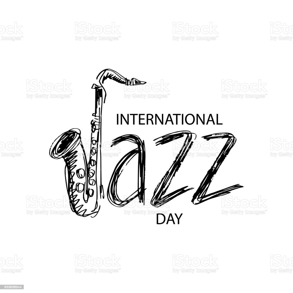 International jazz day vector art illustration