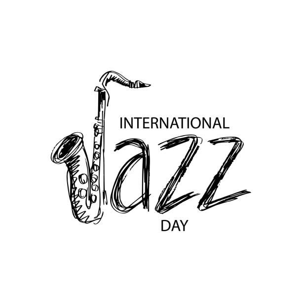 ilustrações de stock, clip art, desenhos animados e ícones de international jazz day - saxofone