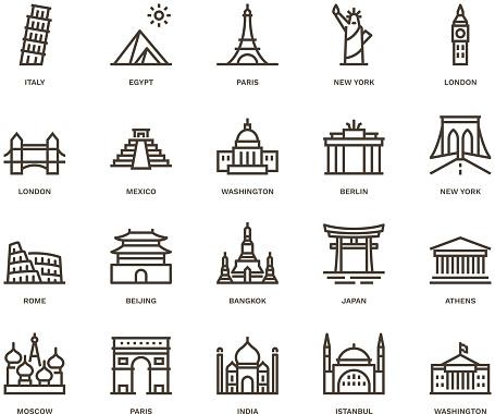 International Landmarks and Monuments,  Monoline concept