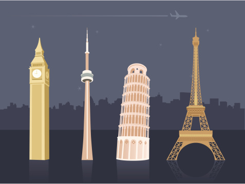 International landmarks and travel destinations