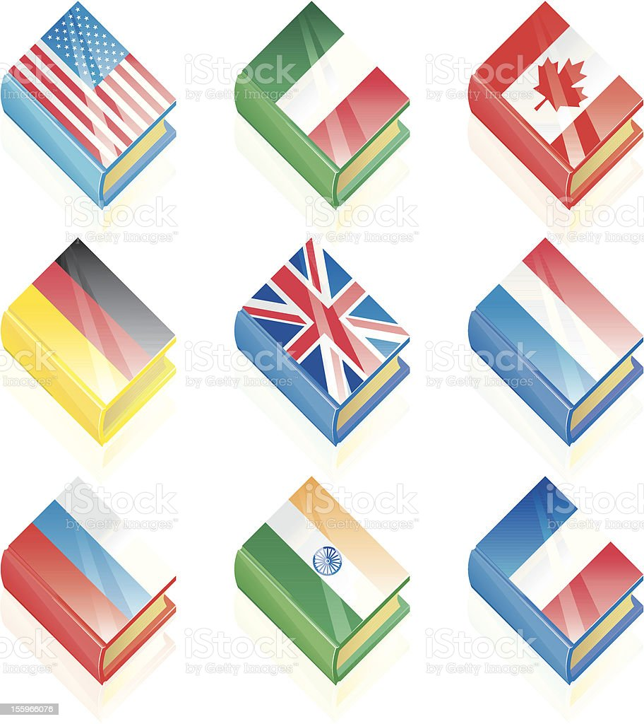International Language Icons royalty-free stock vector art