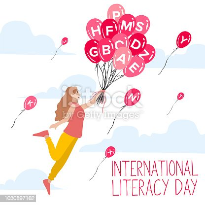 537761721 istock photo International Literacy Day poster. Education concept vector illustration. 1030897162