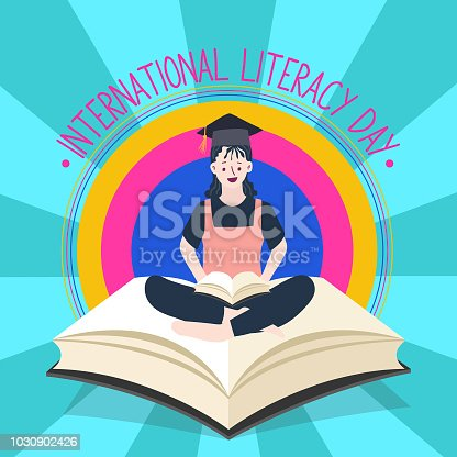 537761721 istock photo International Literacy Day poster. Education concept vector illustration. 1030902426