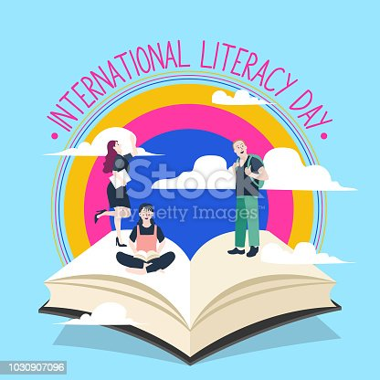 537761721 istock photo International Literacy Day poster. Education concept vector illustration. 1030907096