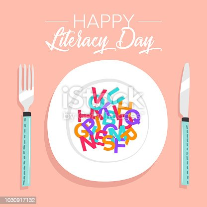 537761721 istock photo International Literacy Day poster. Education concept vector illustration. 1030917132