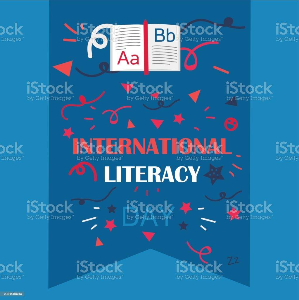 International Literacy Day vector art illustration