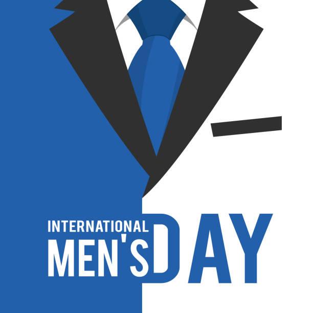 stockillustraties, clipart, cartoons en iconen met international men's dag - men blazer