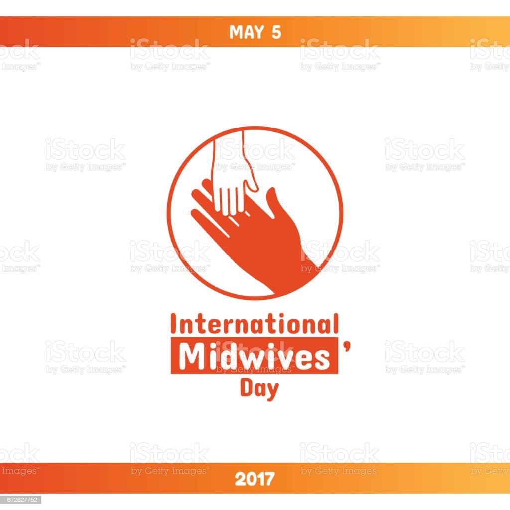 International Midwives Day, May 5 vector art illustration