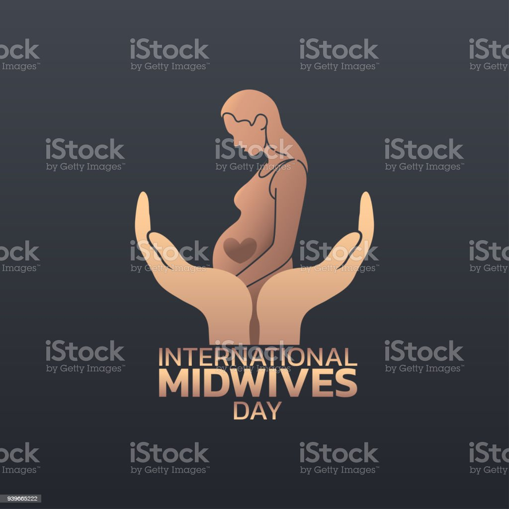 International Midwives Day symbol icon design, vector illustration vector art illustration