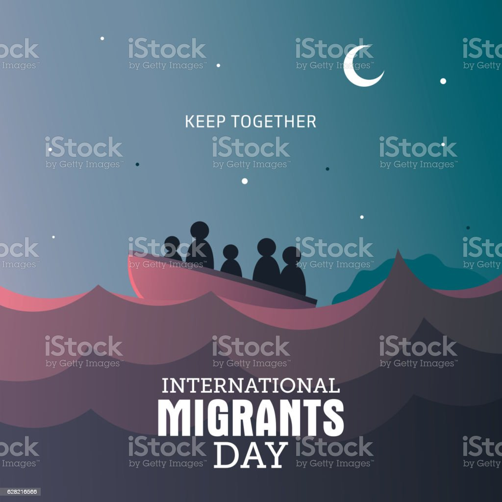 International Migrants Day vector art illustration