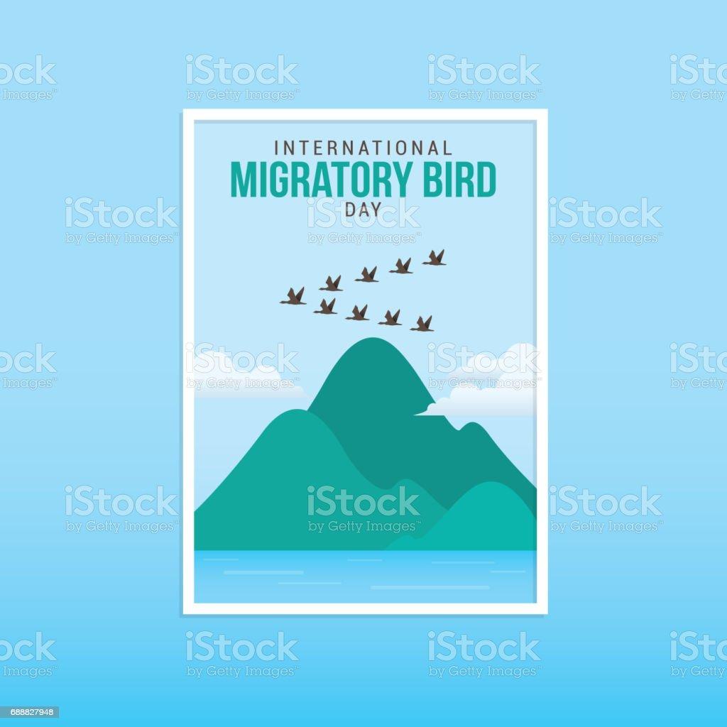 International Migratory Bird Day vector art illustration