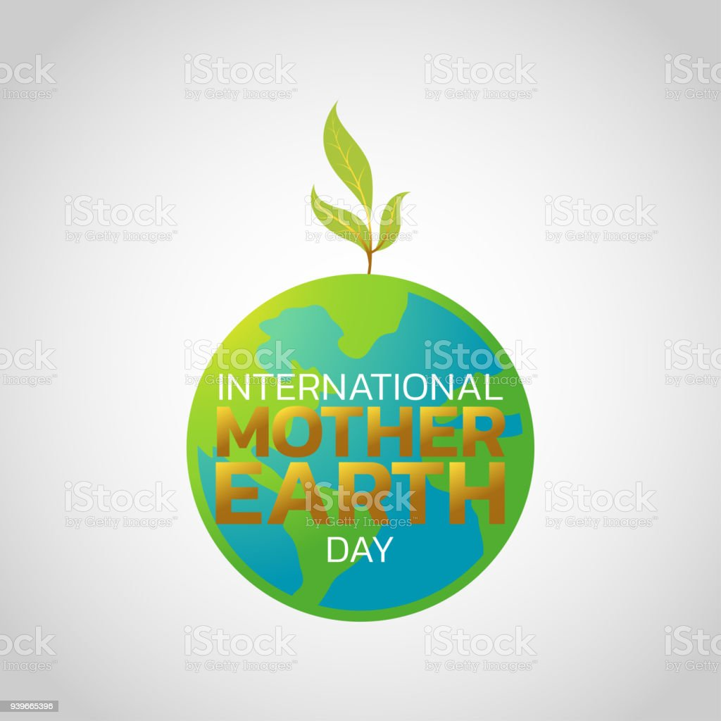 International Mother Earth Day Symbol Icon Design Vector