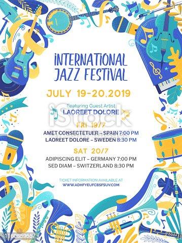 istock International music contest poster vector template 1160659557
