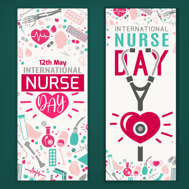 international nurse day banners - nurse stock illustrations, clip art, cartoons, & icons