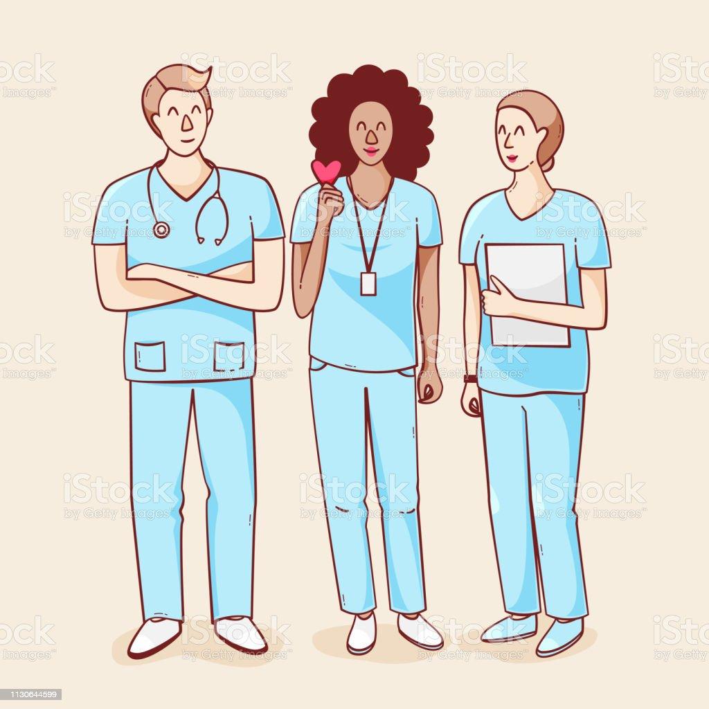 International nurse day - arte vettoriale royalty-free di Abbigliamento