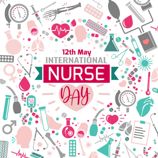 international nurse day - nurse stock illustrations, clip art, cartoons, & icons