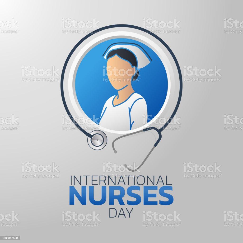 Ilustración de Día Internacional De La Enfermera Símbolo Icono ...