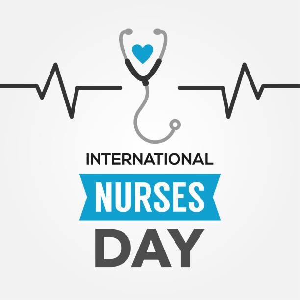 International Nurses Day Vector Design Template With Background vector art illustration