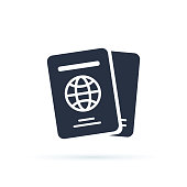 istock International passport vector icon. filled flat sign for mobile concept and web design. Travel documents simple icon. 1053519076