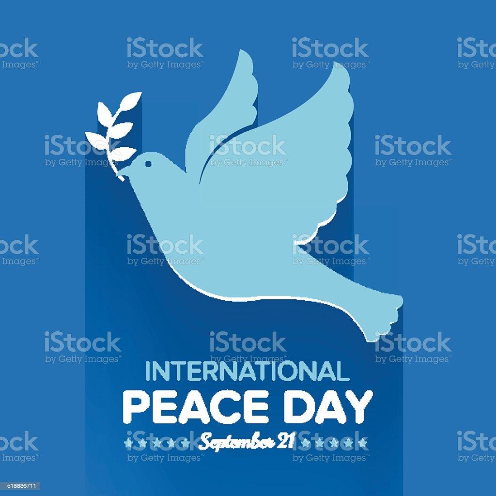 International Peace Day vector art illustration