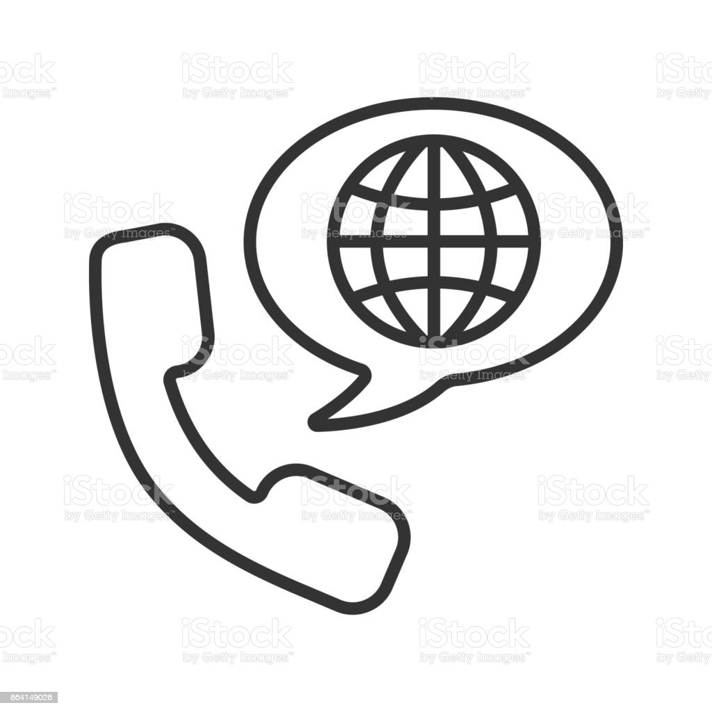 International phone call icon royalty-free international phone call icon stock vector art & more images of call center