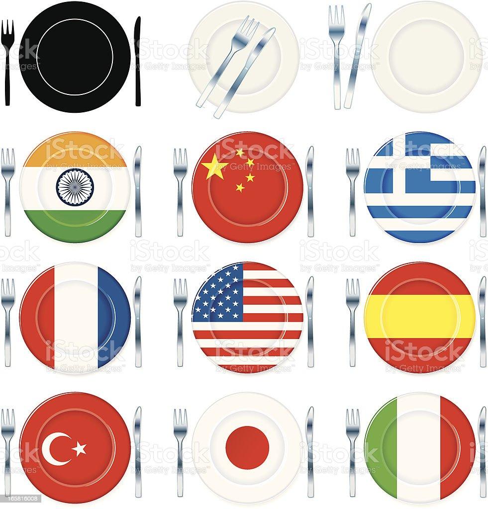 International plates royalty-free stock vector art