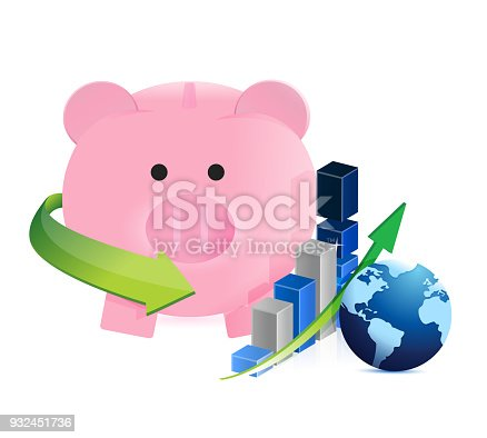 international savings on the move illustration design over a white background