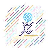 Line vector icon illustration of international sports.
