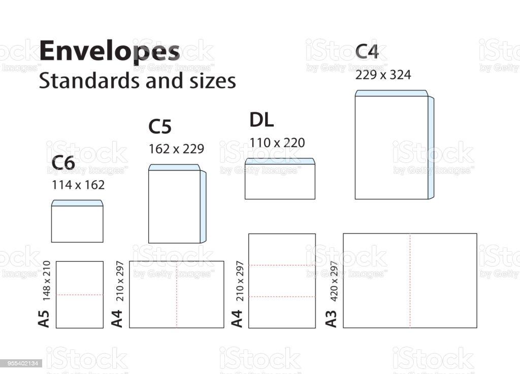 Internationalen Standard Hüllen Für Papier Oder Dokumente C6 C5 Dl ...