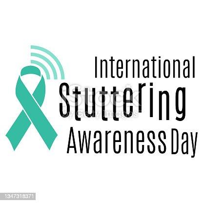 istock International Stuttering Awareness Day, idea for poster, banner, flyer or postcard 1347318371