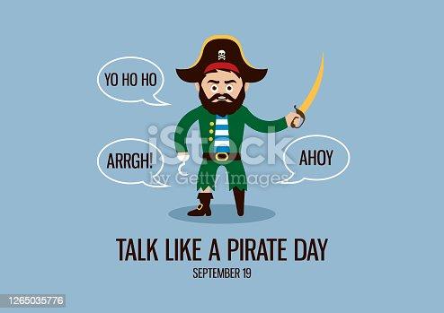 istock International Talk Like a Pirate Day vector 1265035776