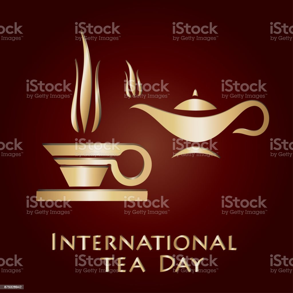 International Tea Day vector art illustration