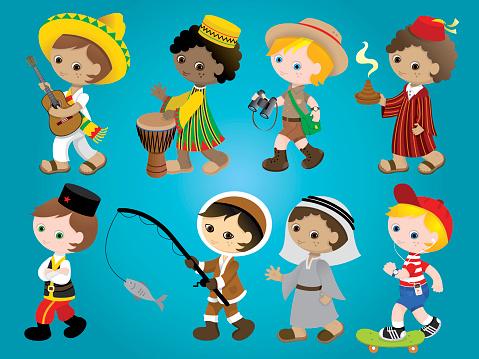 International traditional boys set