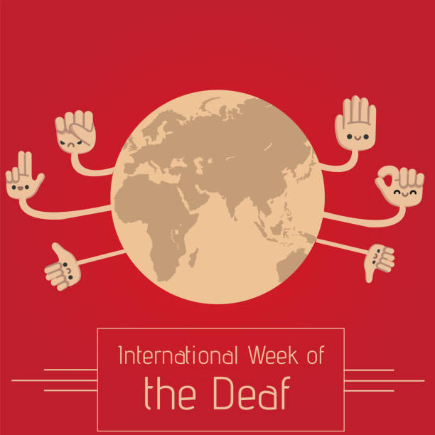 international week of the deaf, iwd. - hearing aid stock illustrations