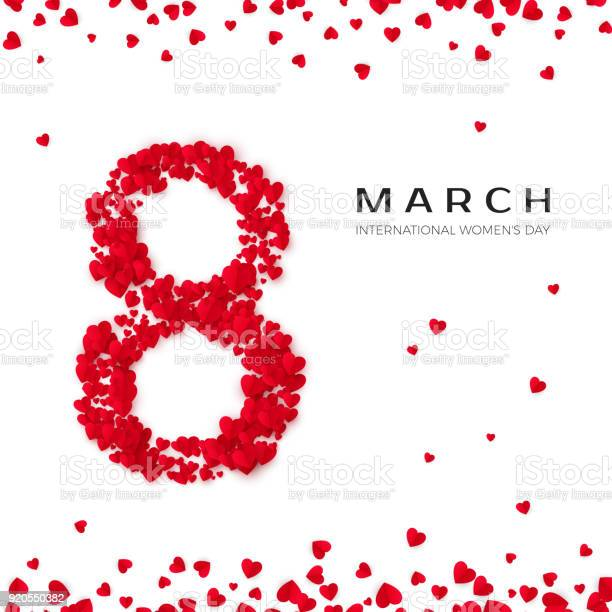 International women day march 8 greeting postcard eight is made of vector id920550382?b=1&k=6&m=920550382&s=612x612&h=eioe2yph9awsb7fuswzkn rcrjn2uwybni87bkobjk0=