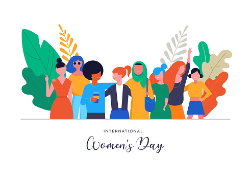 International Women s Day. Vector illustration, card, poster, flyer and banner.