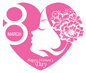Vector International Women's Day 8th March