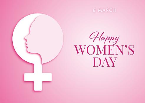International Women's Day Design - Happy Women's Day celebrations concept - Happy Women's Day greeting card