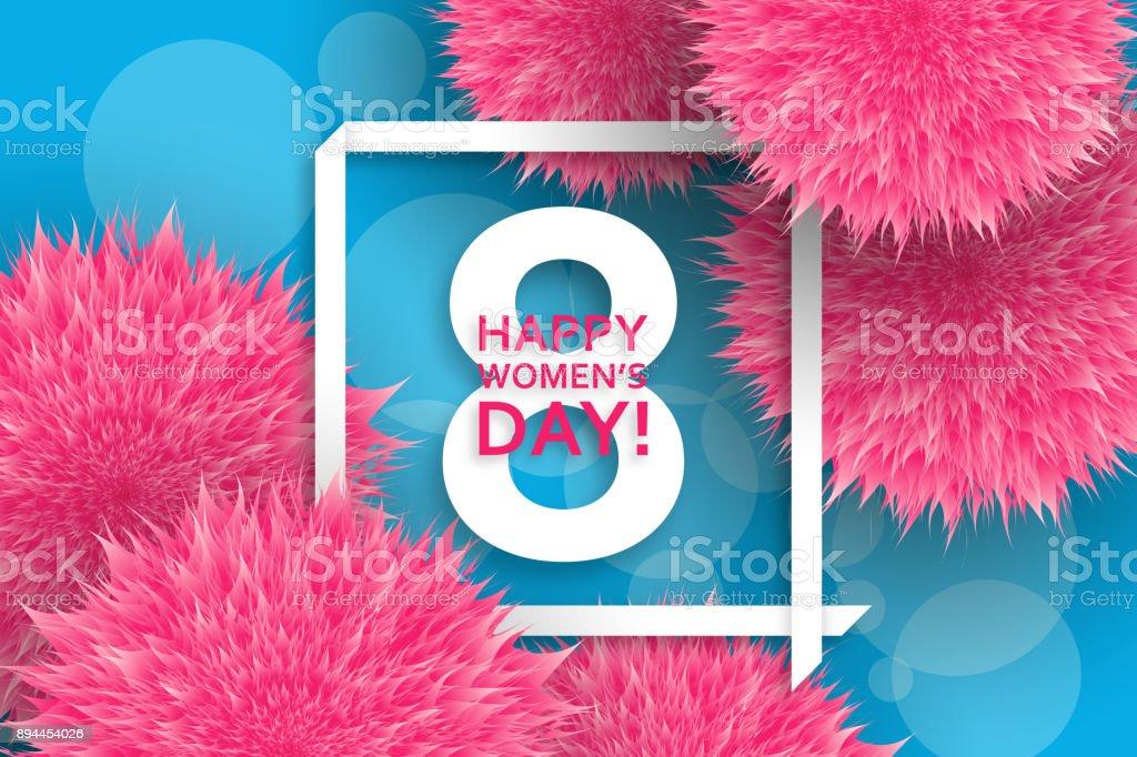 Internationalen Tag Der Frauengrußkarte 8 Märzvorlage Mit Rosa ...
