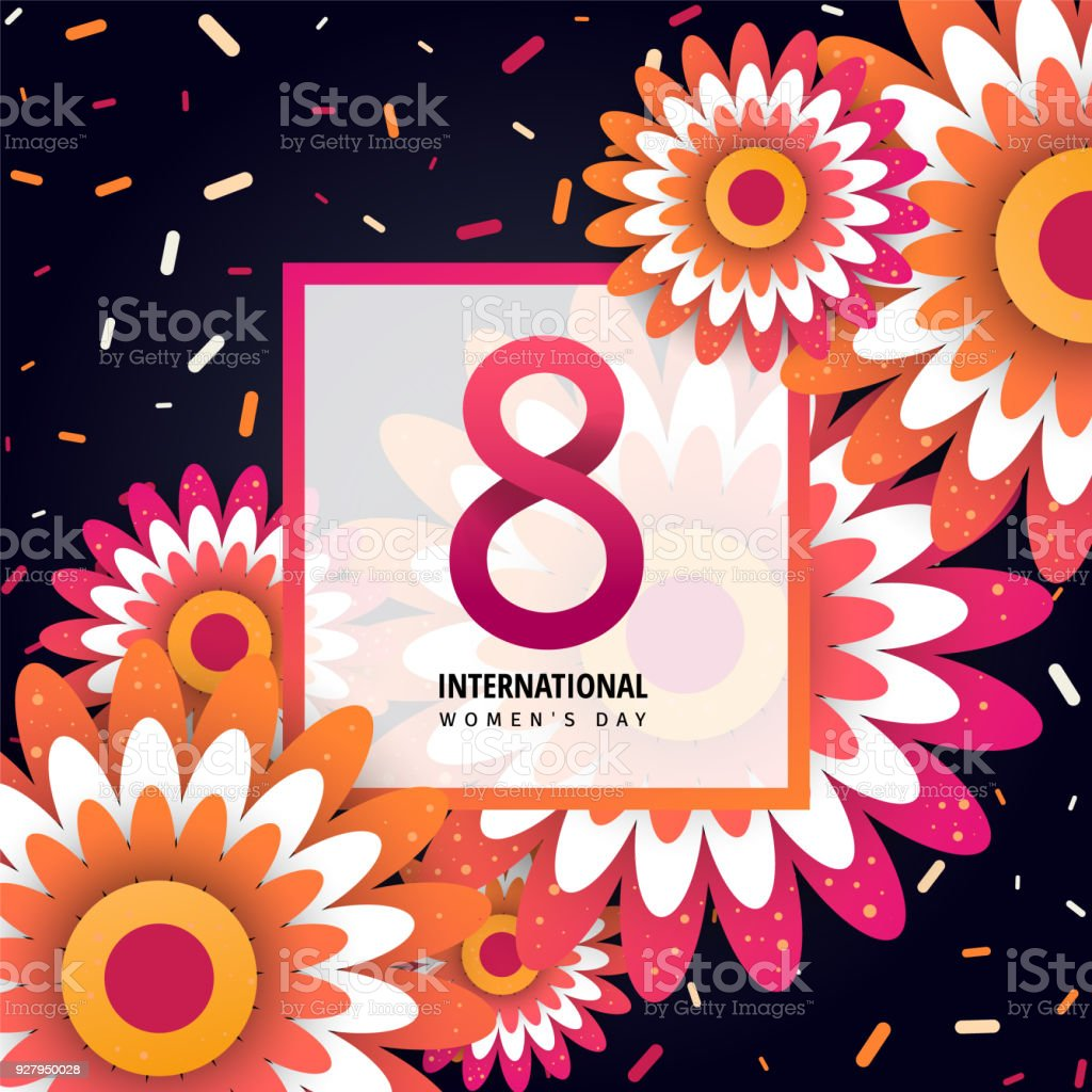 International Womens Day Greeting Card Stock Vector Art More