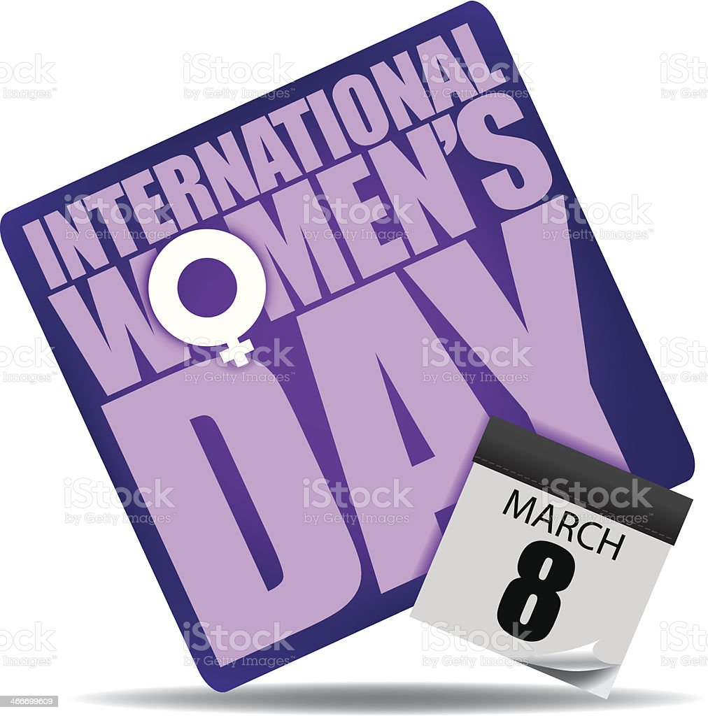 International Women's Day Icon. vector art illustration