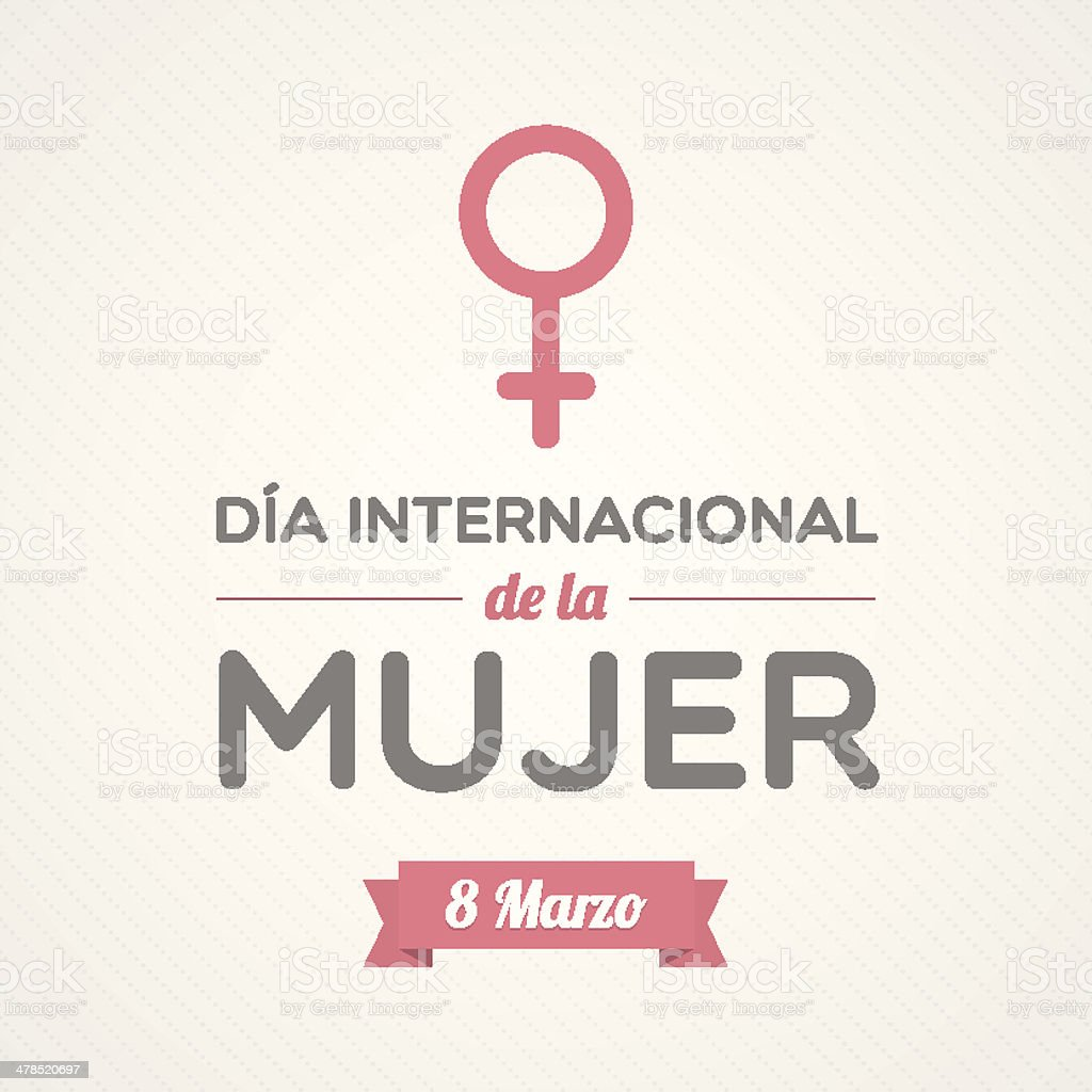 International Women's Day in Spanish royalty-free stock vector art