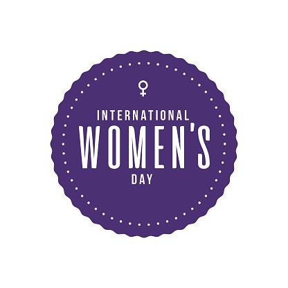 International Women's Day Label