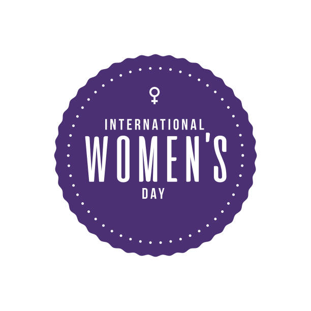 international women's day label - international womens day stock illustrations