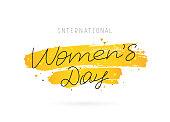 International Women's Day. March 8.