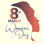 Vector illustration of a International Women's Day March 8th design template banner or flyer. Can be used for Women's Rights and feminist social issues. Includes fully editable. vector eps 10.