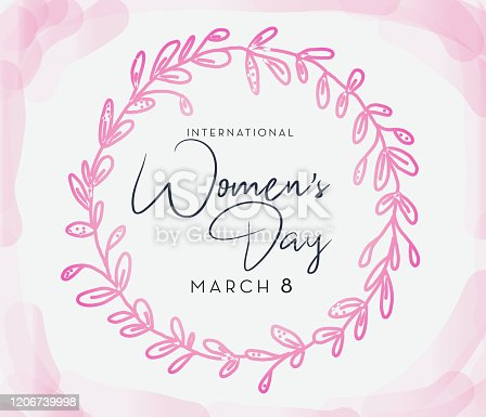 International Women's Day March 8th design template banner or flyer