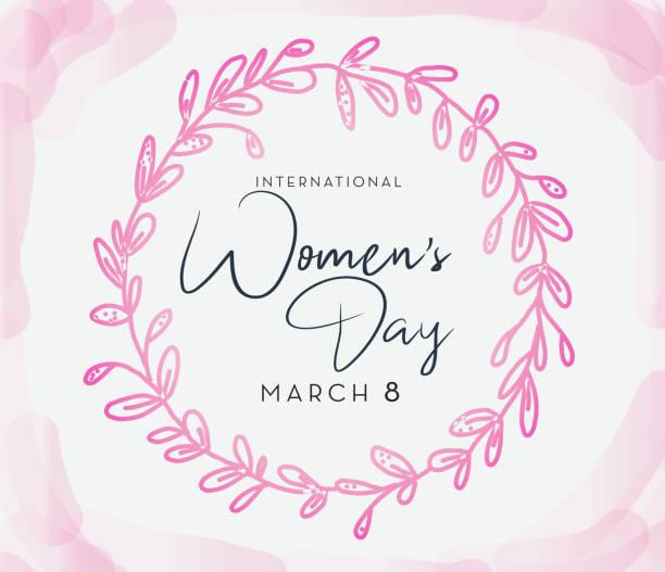International Women's Day March 8th design template banner or flyer vector art illustration