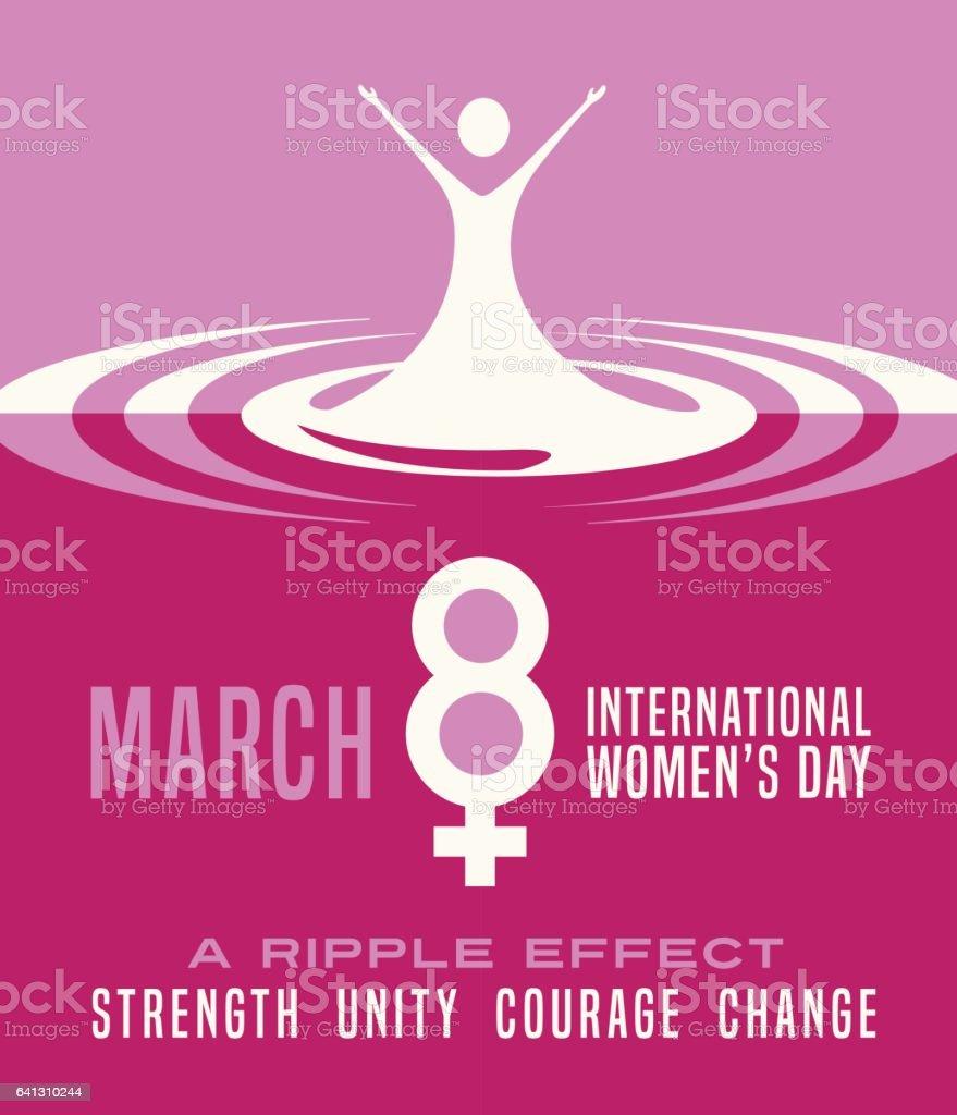 International Women's Day March 8th. poster, card,  banner design. vector art illustration